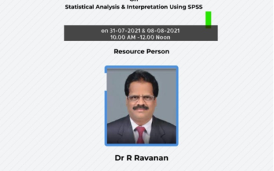 WORKSHOP ON STATISTICAL ANALYSIS AND INTERPRETATION USING SPSS